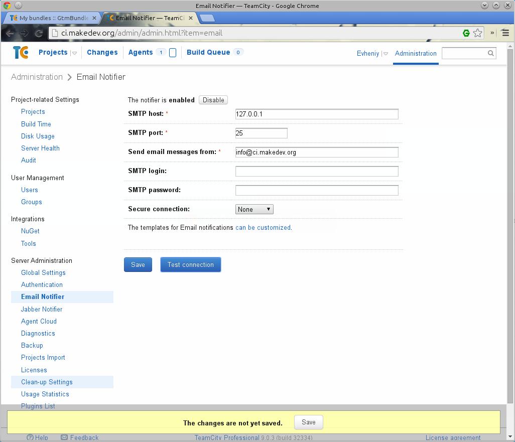 Email Notifier (уведомления по почте)